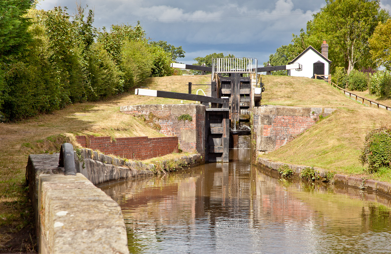 2xstaircase lock being the first along the Montgomery Canal from Frankton Junction with Llangollen Canal