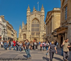 Bath Abbey from front