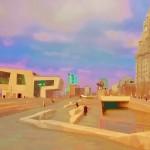 Pier Head Gardens, Liverpool - artists impresion