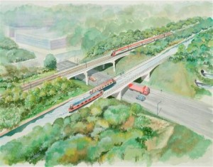 Selly Oak Canal and Rail Structures art impression