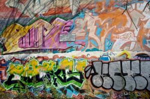 A wall in Bournbrook Park, Selly Oak, Birmingham