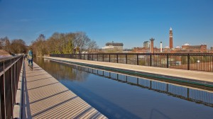 New canal aqueduct at Selly Oak