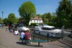 View north over Boulter's Lock at Maidenhead.